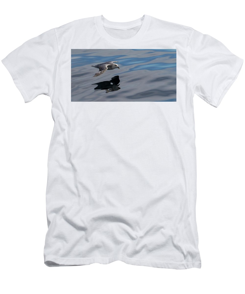 Svalbard Men's T-Shirt (Athletic Fit) featuring the photograph Fulmar Reflection 2 by Russell Millner