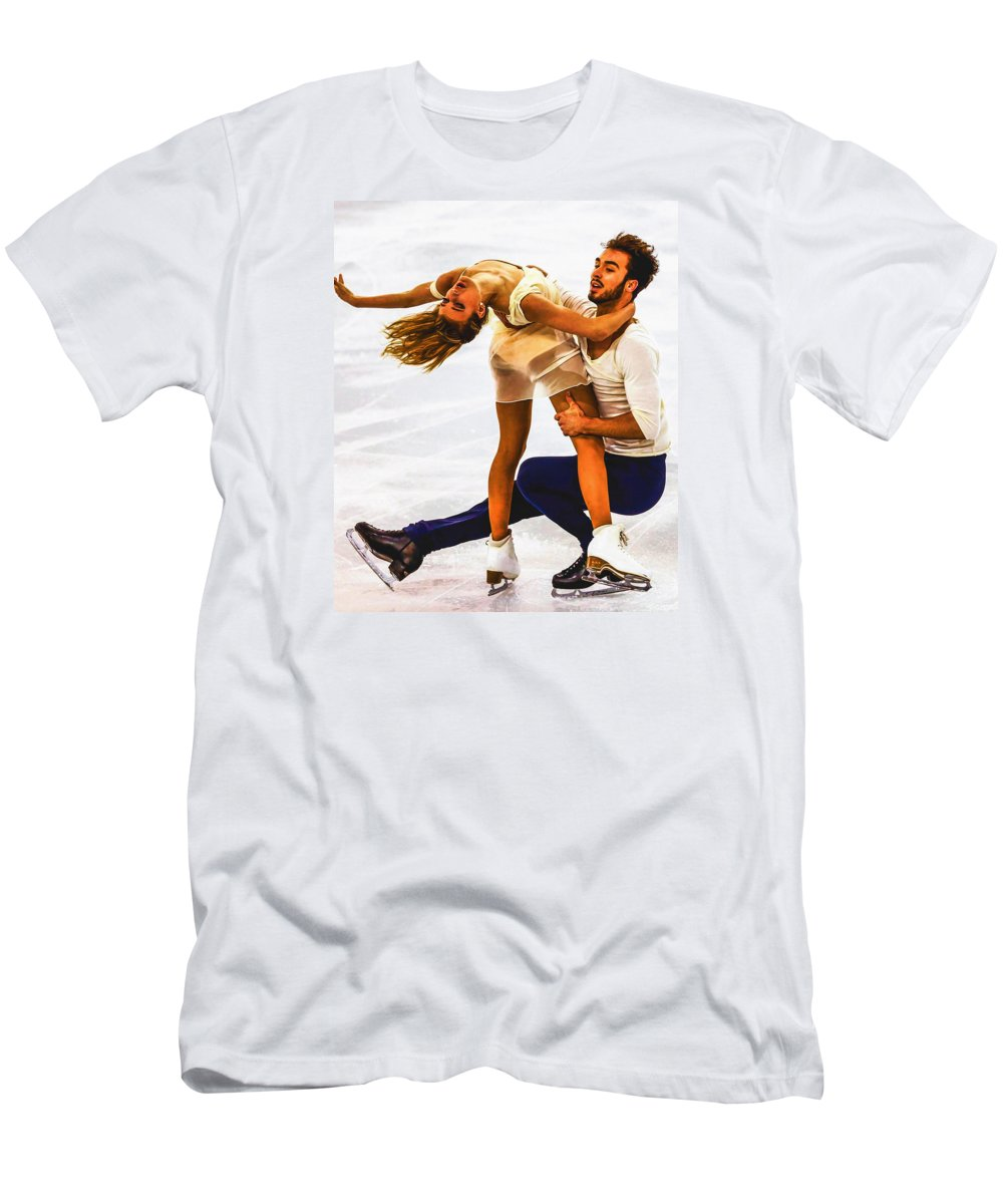 Decoration Men's T-Shirt (Athletic Fit) featuring the digital art Gabriella Papadakis And Guillaume Cizeron by Don Kuing