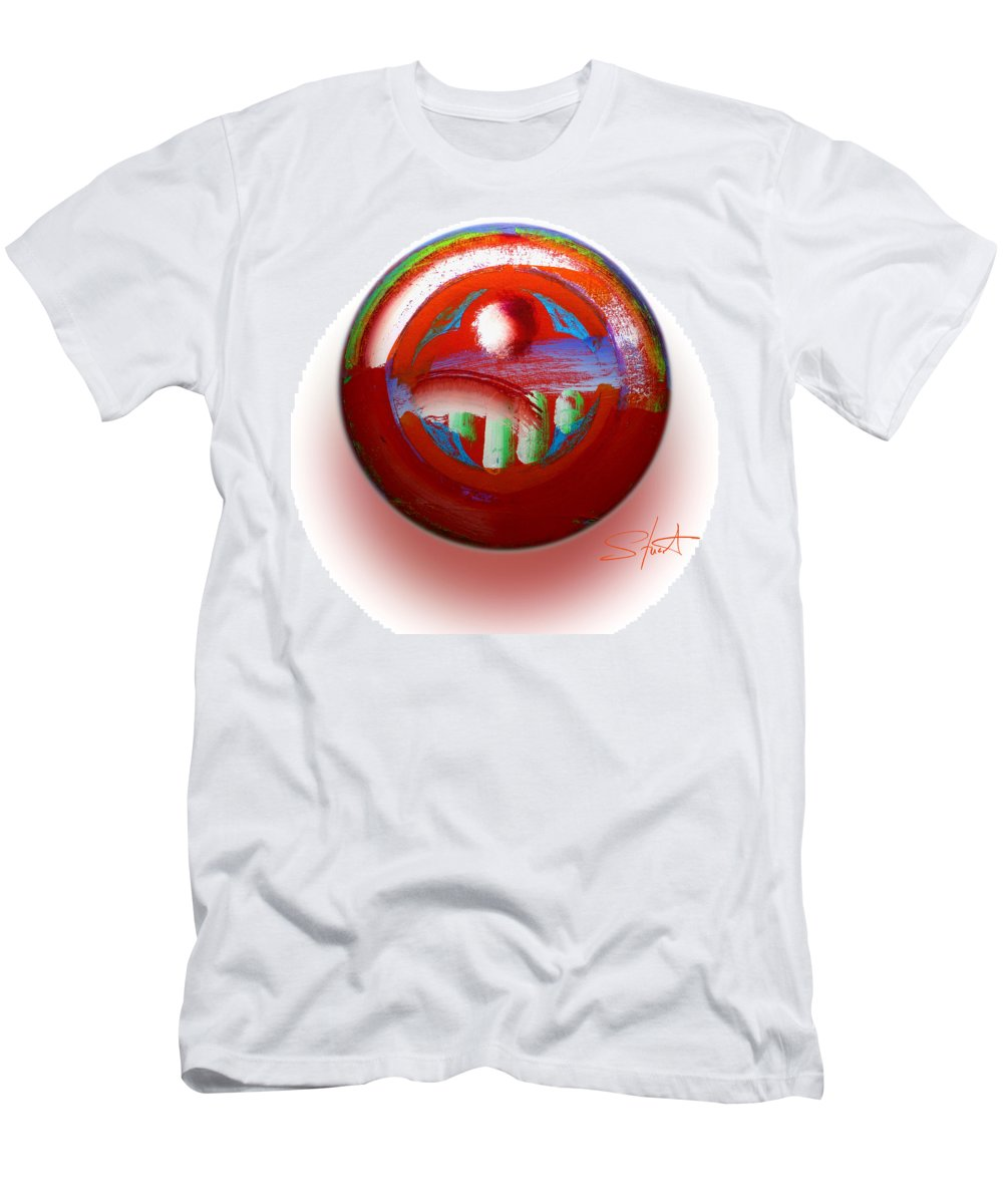 Mother Earth Men's T-Shirt (Athletic Fit) featuring the painting Gaeia by Charles Stuart