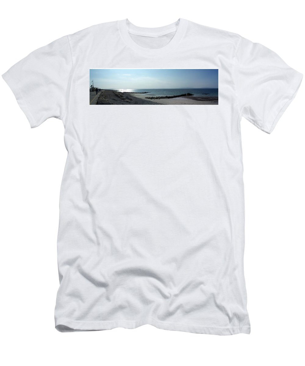 Irish Men's T-Shirt (Athletic Fit) featuring the photograph Galway Bay At Salt Hill Park Galway Ireland by Teresa Mucha