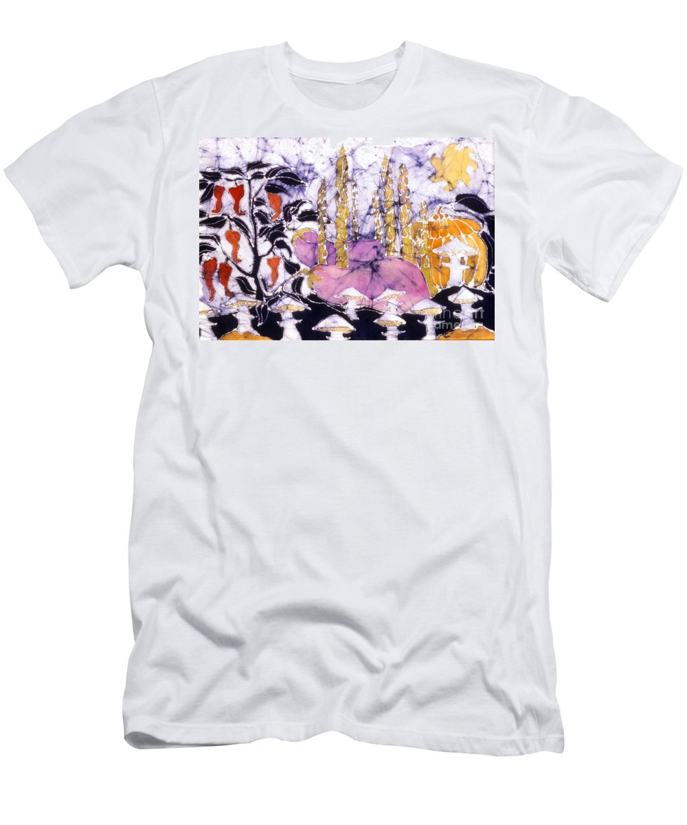 Garden Men's T-Shirt (Athletic Fit) featuring the tapestry - textile Garden Fest From The Sun by Carol Law Conklin