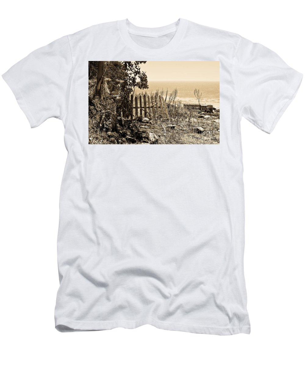 Mediterranean Sea Men's T-Shirt (Athletic Fit) featuring the photograph Gateway To The Mediterranean by Madeline Ellis