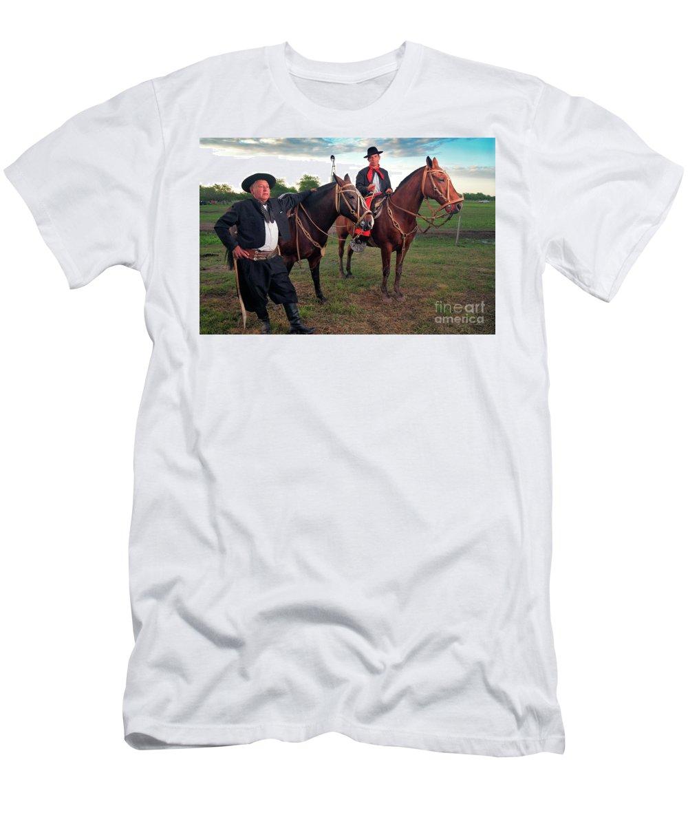 Gauchos Men's T-Shirt (Athletic Fit) featuring the photograph Gauchos by Bernardo Galmarini
