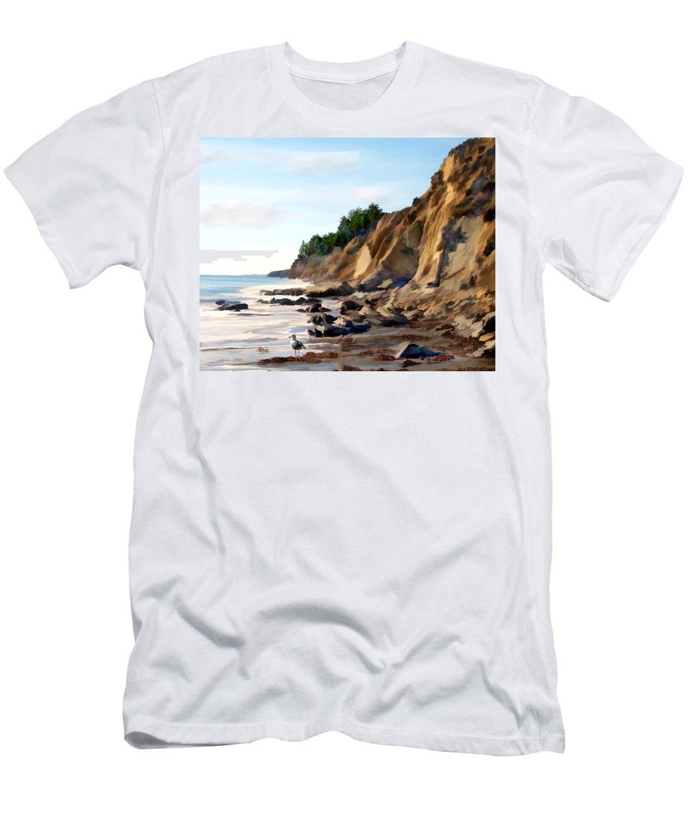 Ocean Men's T-Shirt (Athletic Fit) featuring the photograph Gaviota by Kurt Van Wagner