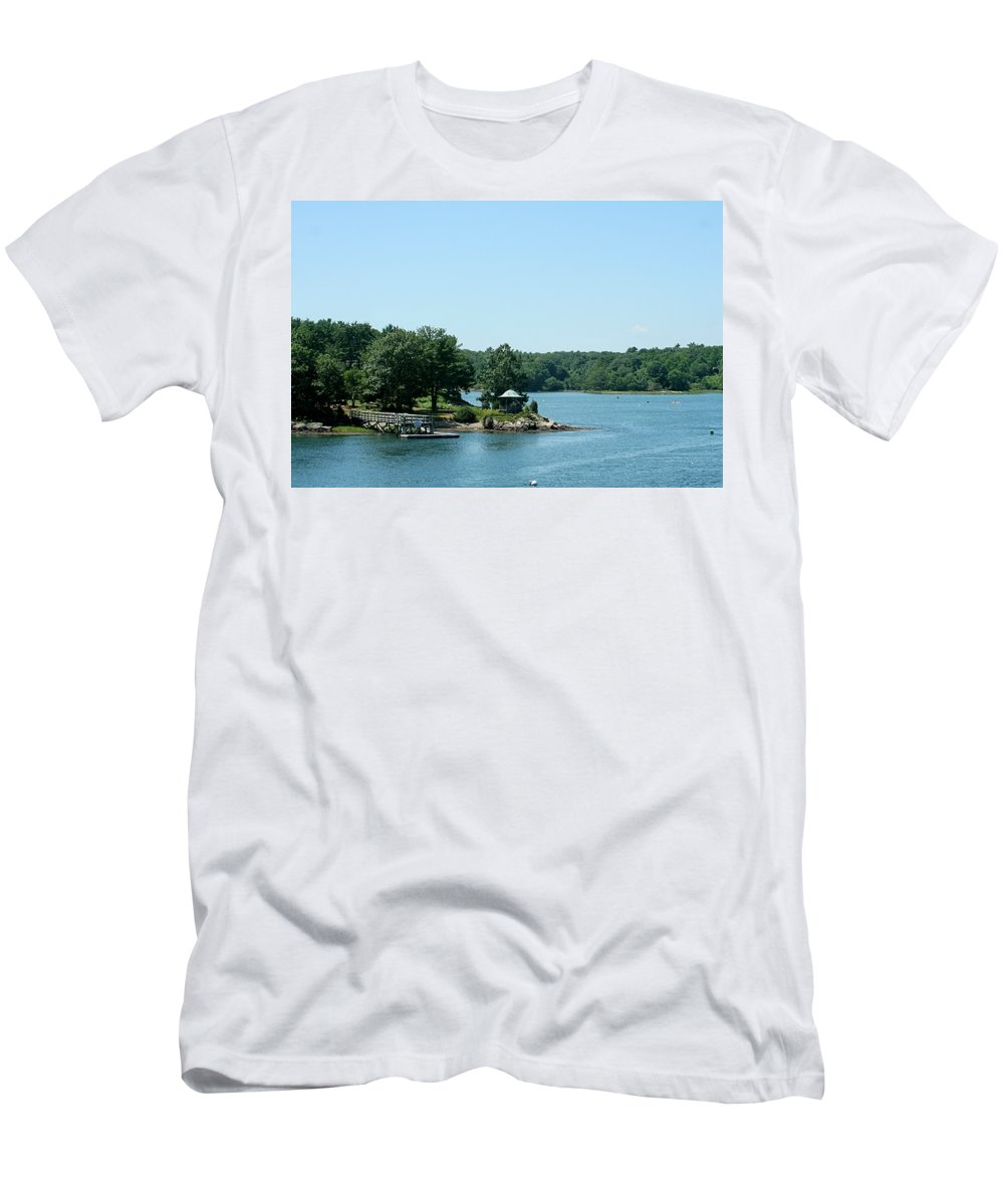 Men's T-Shirt (Athletic Fit) featuring the photograph Gazebo On The Ocean by Barbara S Nickerson