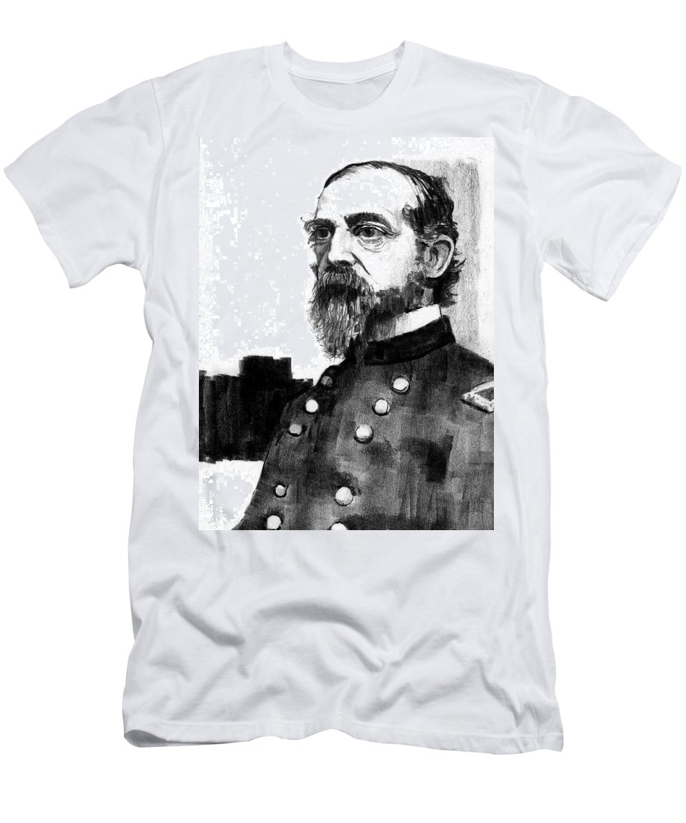 General Men's T-Shirt (Athletic Fit) featuring the drawing General George Meade by Paul Sachtleben