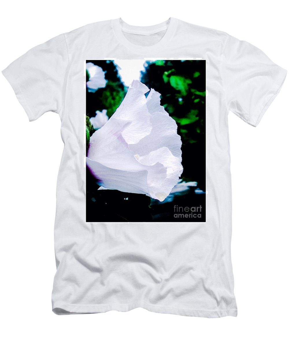 Flowers Men's T-Shirt (Athletic Fit) featuring the photograph Gentle Floral by Debra Lynch