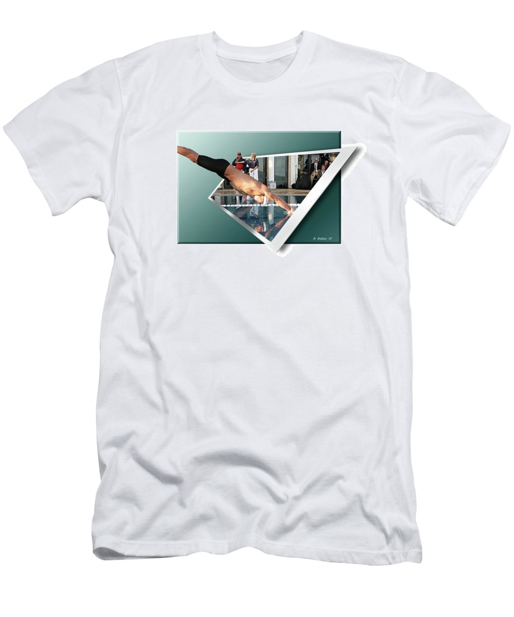 2d Men's T-Shirt (Athletic Fit) featuring the photograph Get Ready Get Set by Brian Wallace