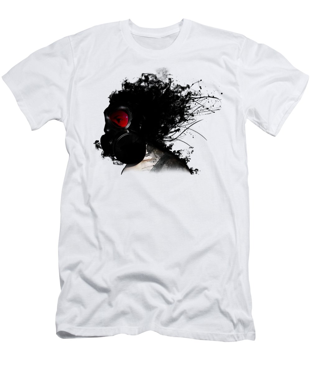 Gas T-Shirt featuring the mixed media Ghost Warrior by Nicklas Gustafsson