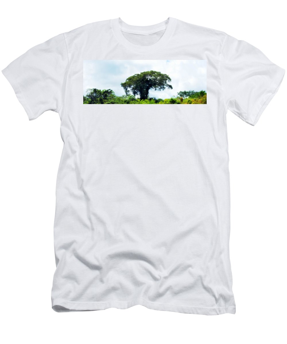 Amazon Men's T-Shirt (Athletic Fit) featuring the photograph Giant Tree In Amazon Skyline by HQ Photo