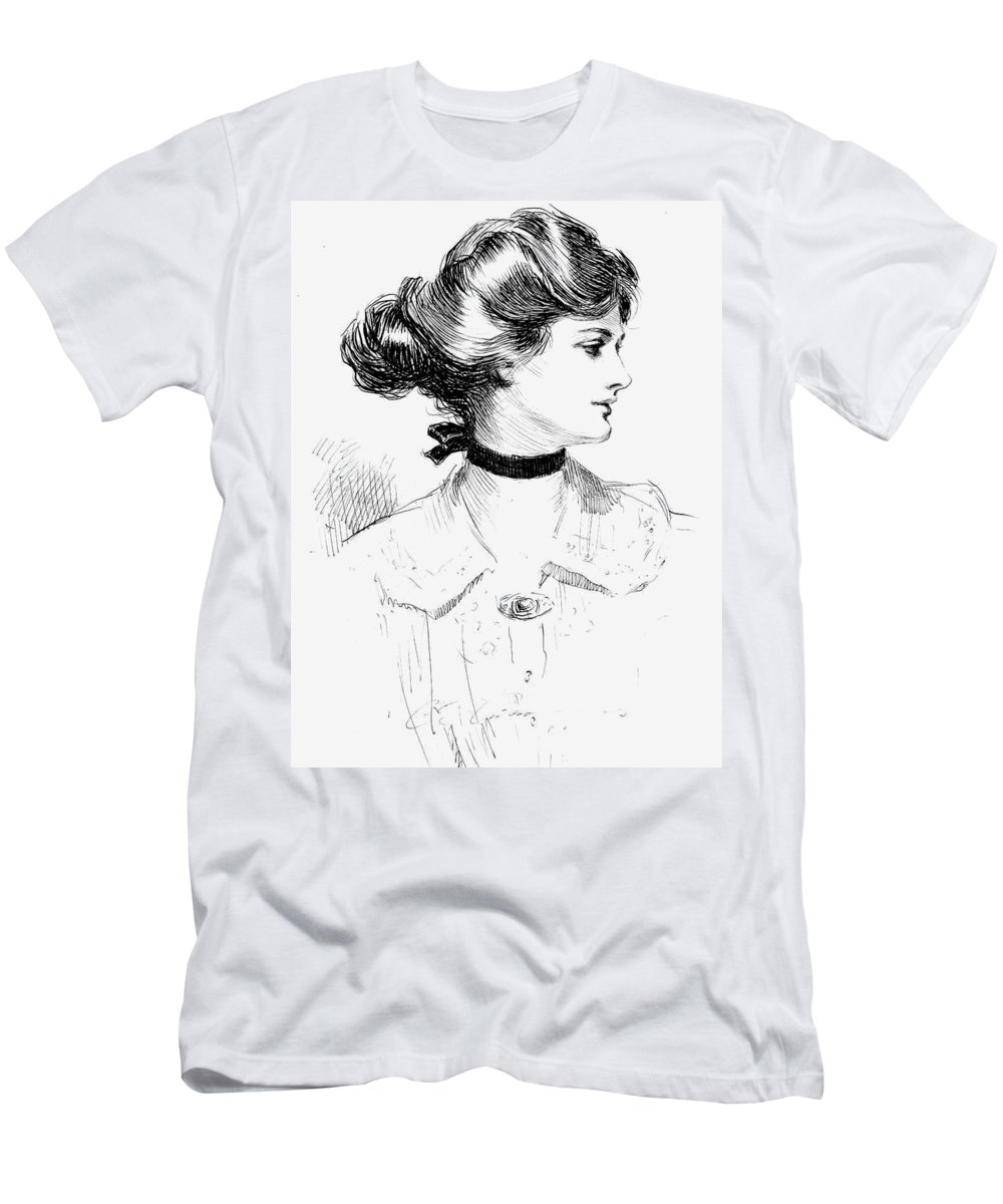 1905 Men's T-Shirt (Athletic Fit) featuring the photograph Gibson: Gibson Girl, 1905 by Granger