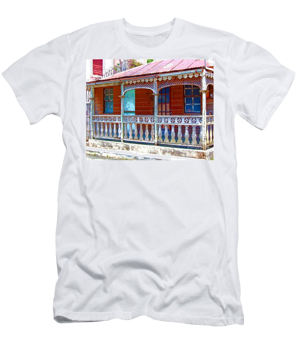 House Men's T-Shirt (Athletic Fit) featuring the photograph Gingerbread House by Debbi Granruth