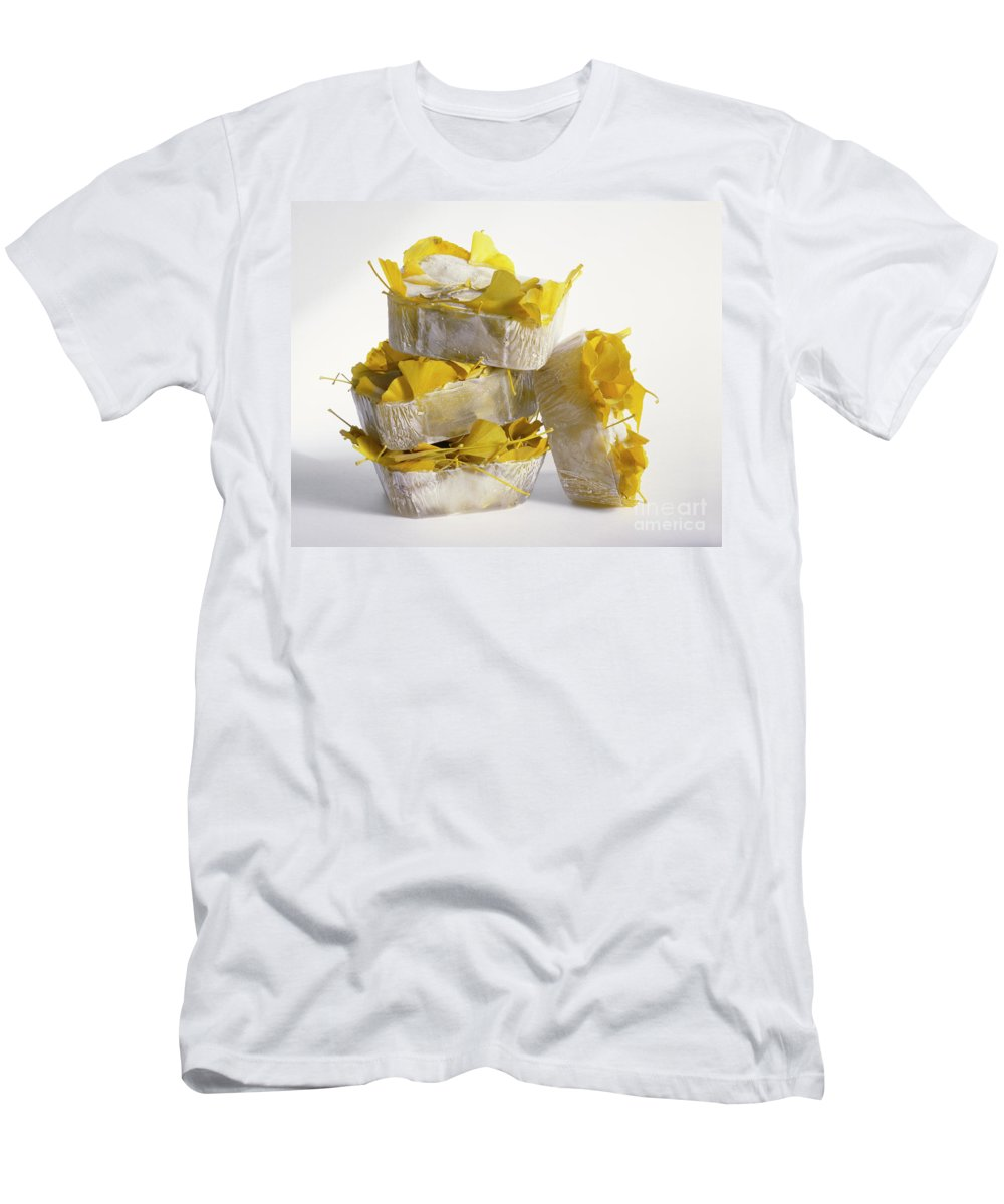 Icy Men's T-Shirt (Athletic Fit) featuring the photograph Ginkobiloba by Stefania Levi