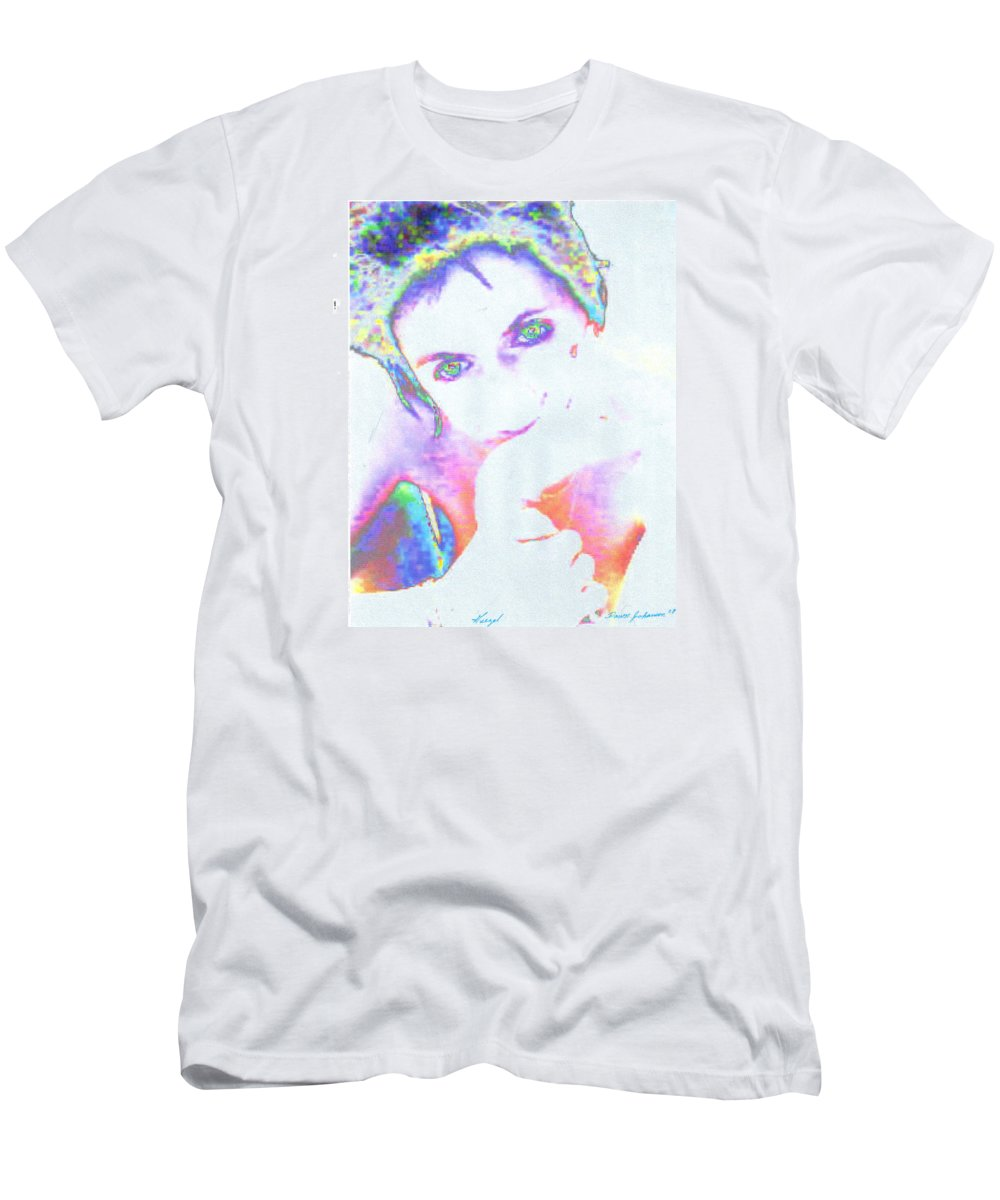 Portrate Of A French Girl Men's T-Shirt (Athletic Fit) featuring the photograph Gisele by Dawn Johansen
