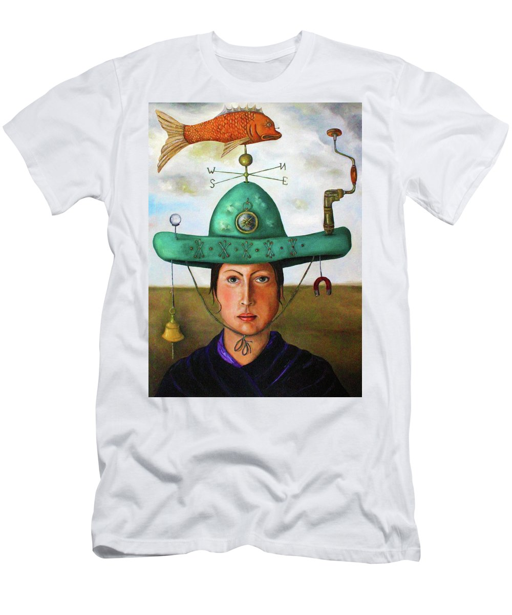 Fish Men's T-Shirt (Athletic Fit) featuring the painting Gizmo 3 by Leah Saulnier The Painting Maniac