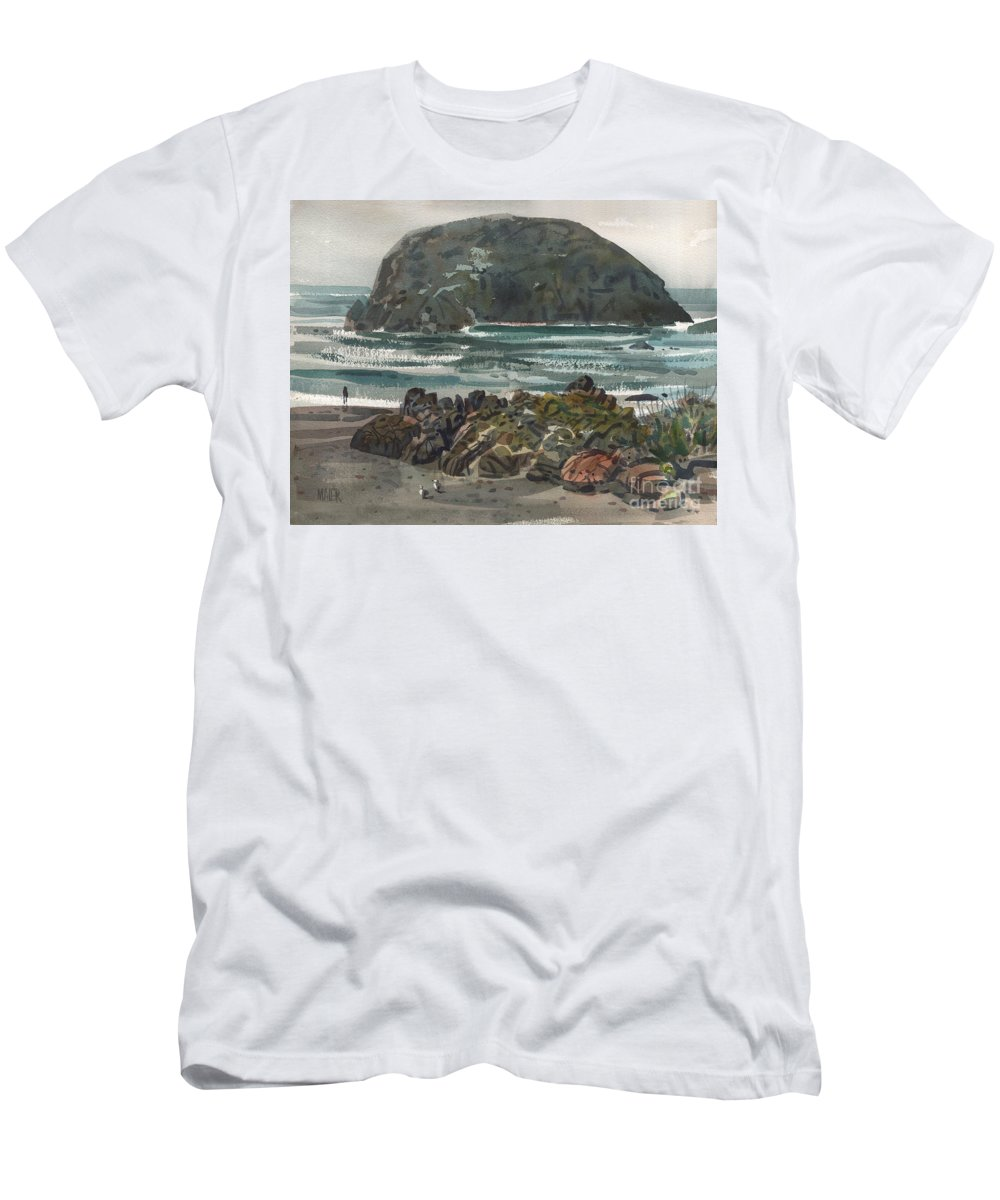Goat Rock Men's T-Shirt (Athletic Fit) featuring the painting Goat Rock by Donald Maier