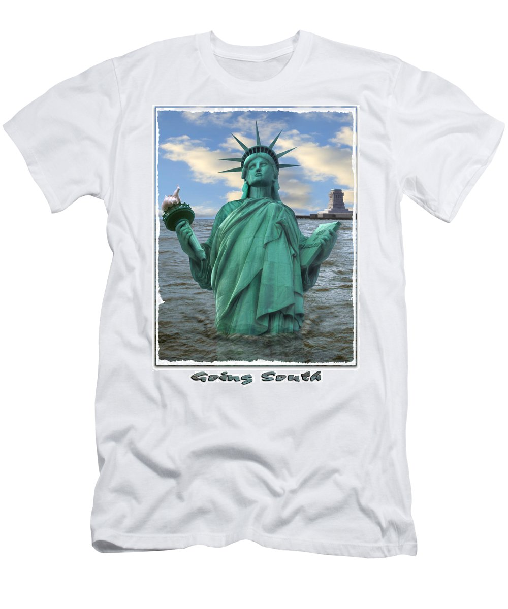 Surrealism Men's T-Shirt (Athletic Fit) featuring the photograph Going South by Mike McGlothlen