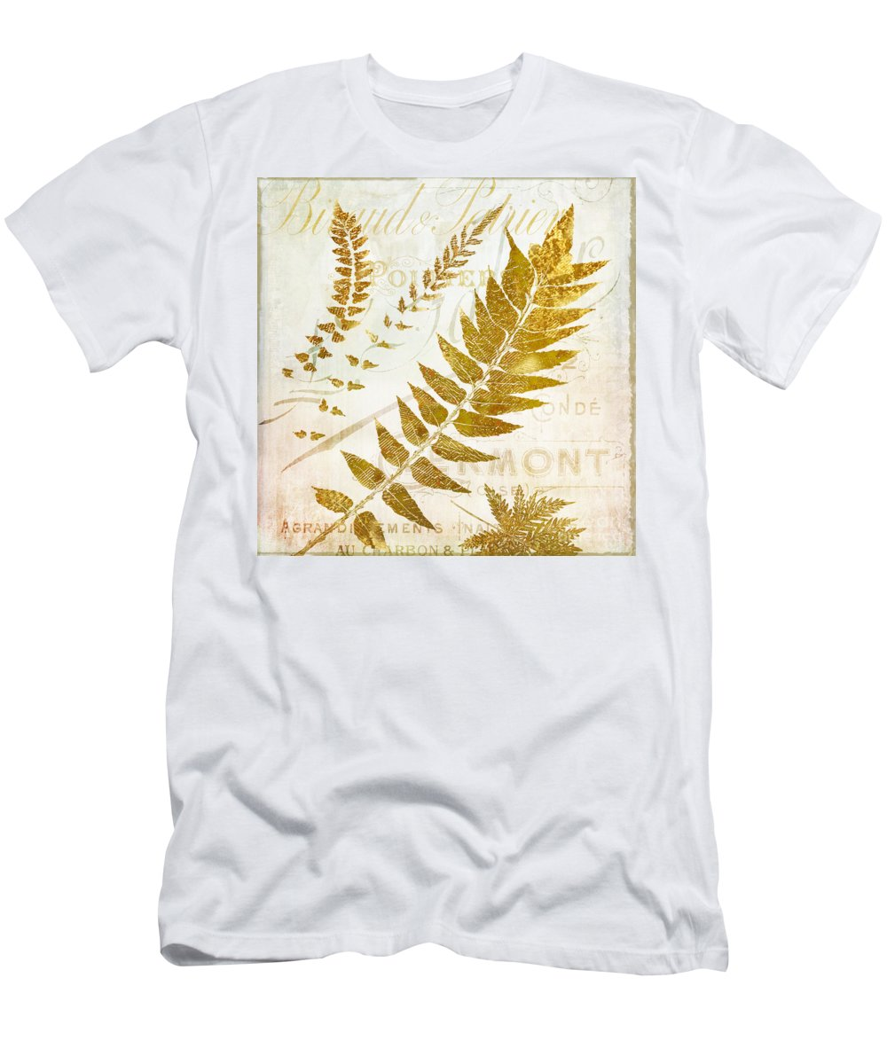 Ferns Men's T-Shirt (Athletic Fit) featuring the painting Golda I by Mindy Sommers