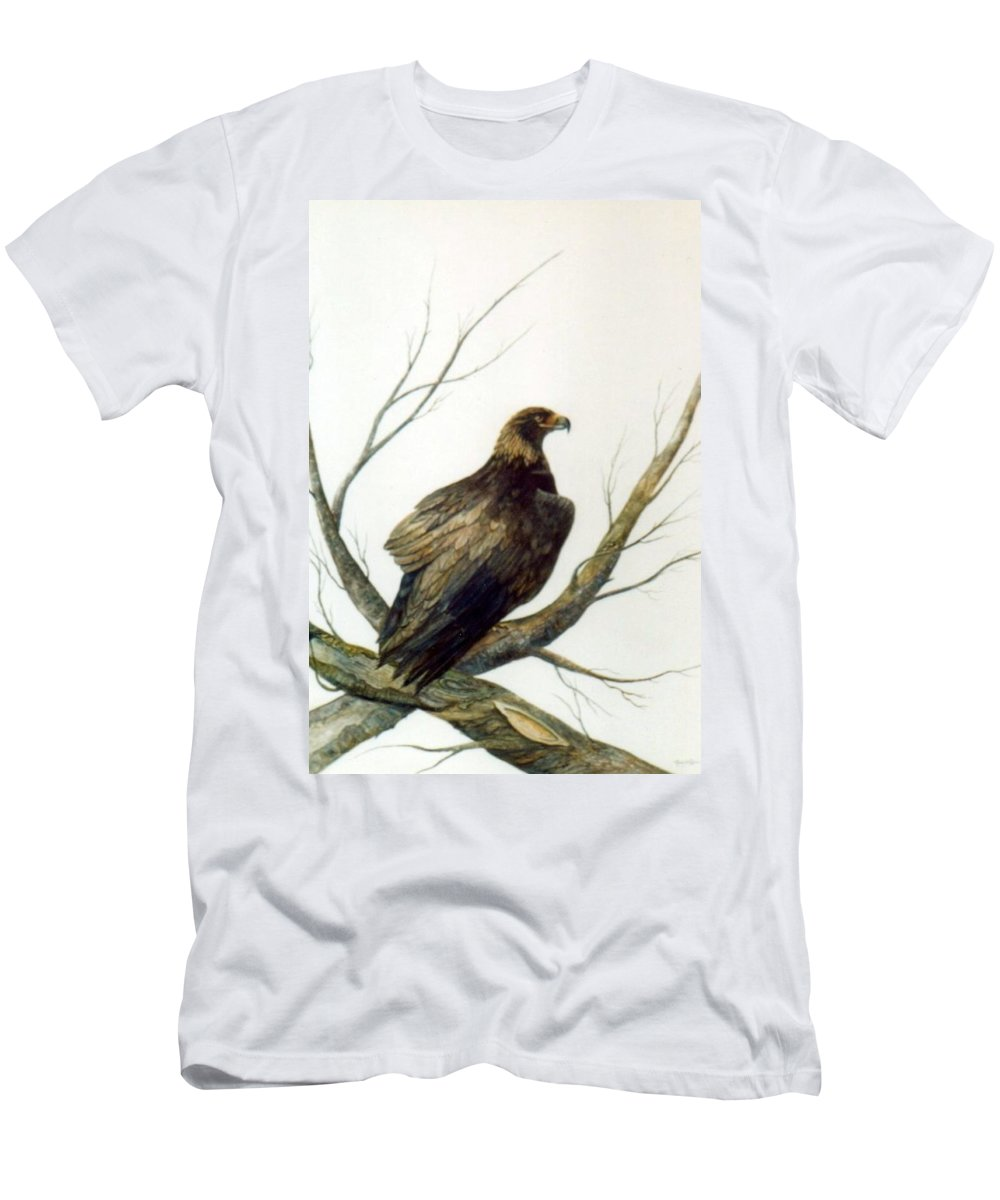 Eagle Men's T-Shirt (Athletic Fit) featuring the painting Golden Eagle by Ben Kiger