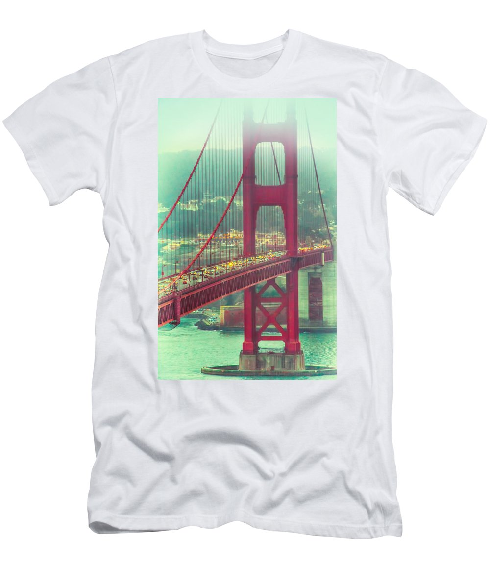 Landscape Men's T-Shirt (Athletic Fit) featuring the photograph Golden Gate Portrait by Laura Macky
