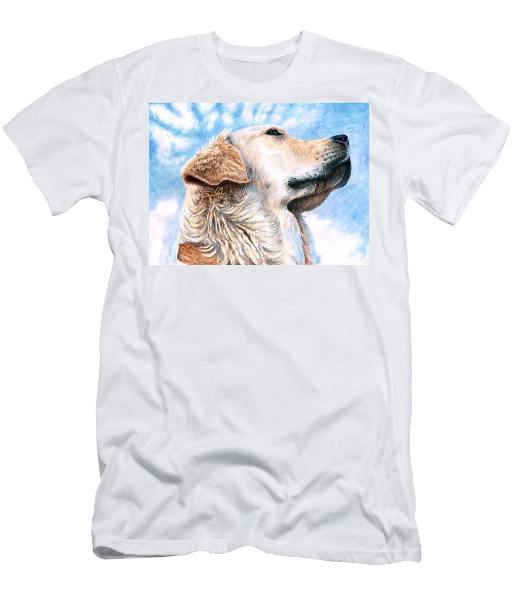Dog Men's T-Shirt (Athletic Fit) featuring the painting Golden Retriever by Nicole Zeug