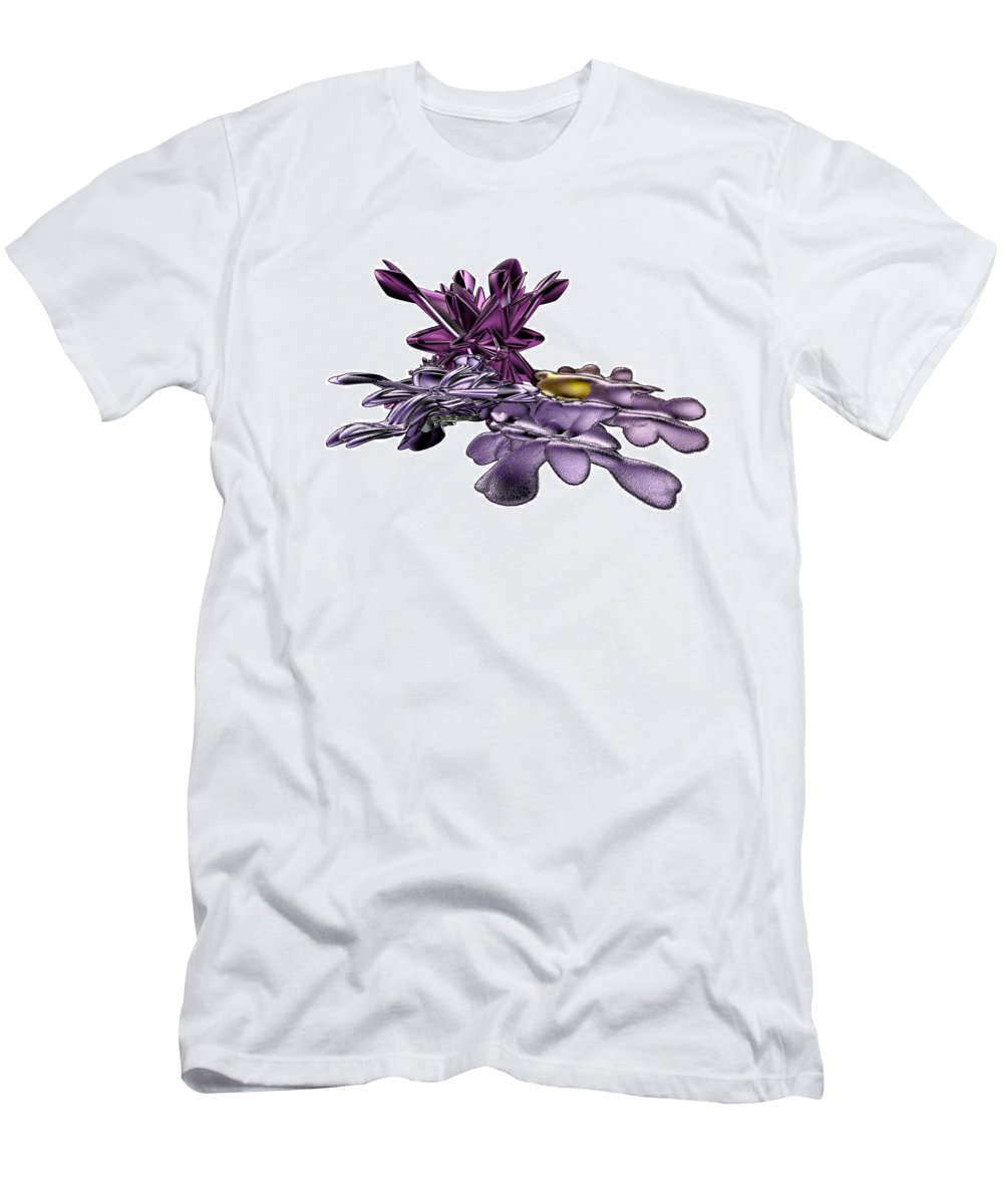 Fractal T-Shirt featuring the digital art Golumphr Castle by Frederic Durville