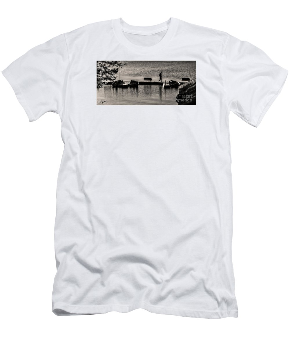 Lake Men's T-Shirt (Athletic Fit) featuring the photograph Gone Fishin' by Joseph Yvon Cote