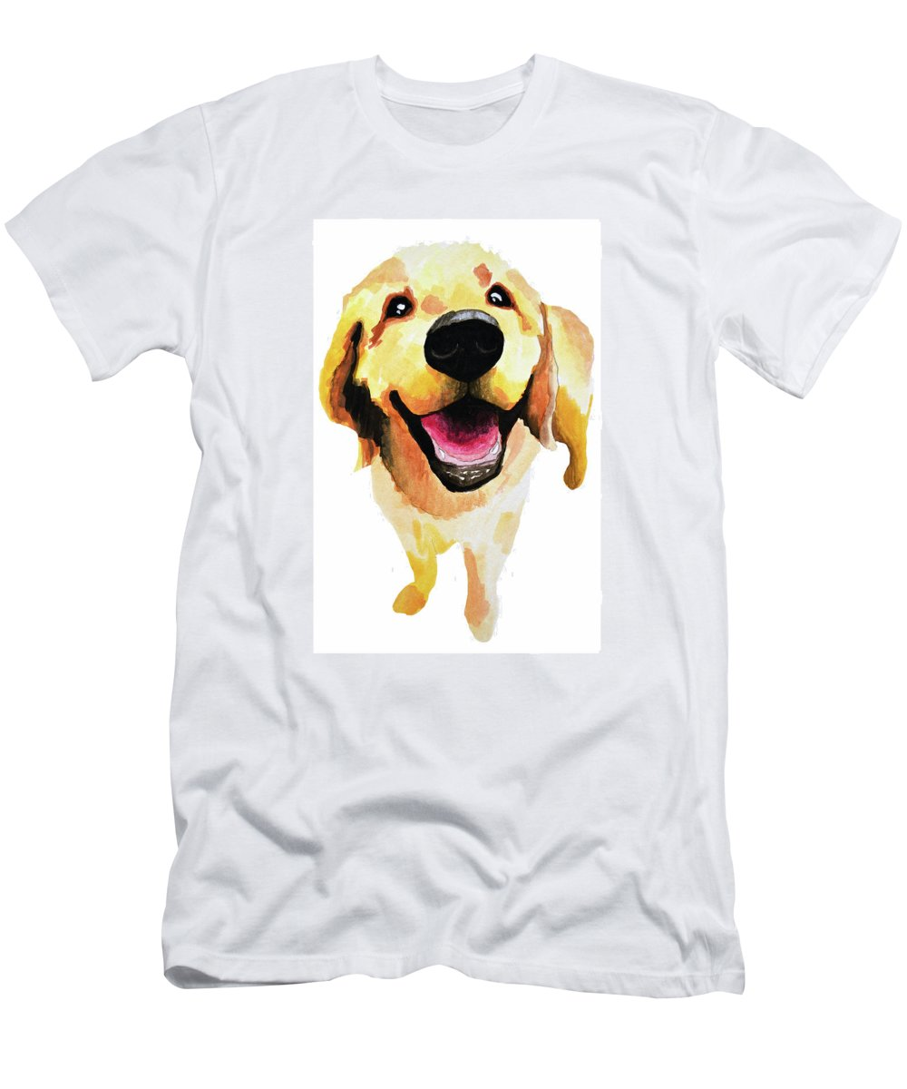 Dog T-Shirt featuring the painting Good Boy by Amy Giacomelli