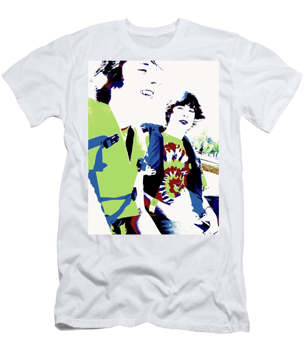 Good Friends Men's T-Shirt (Athletic Fit) featuring the photograph Good Friends by Ed Smith