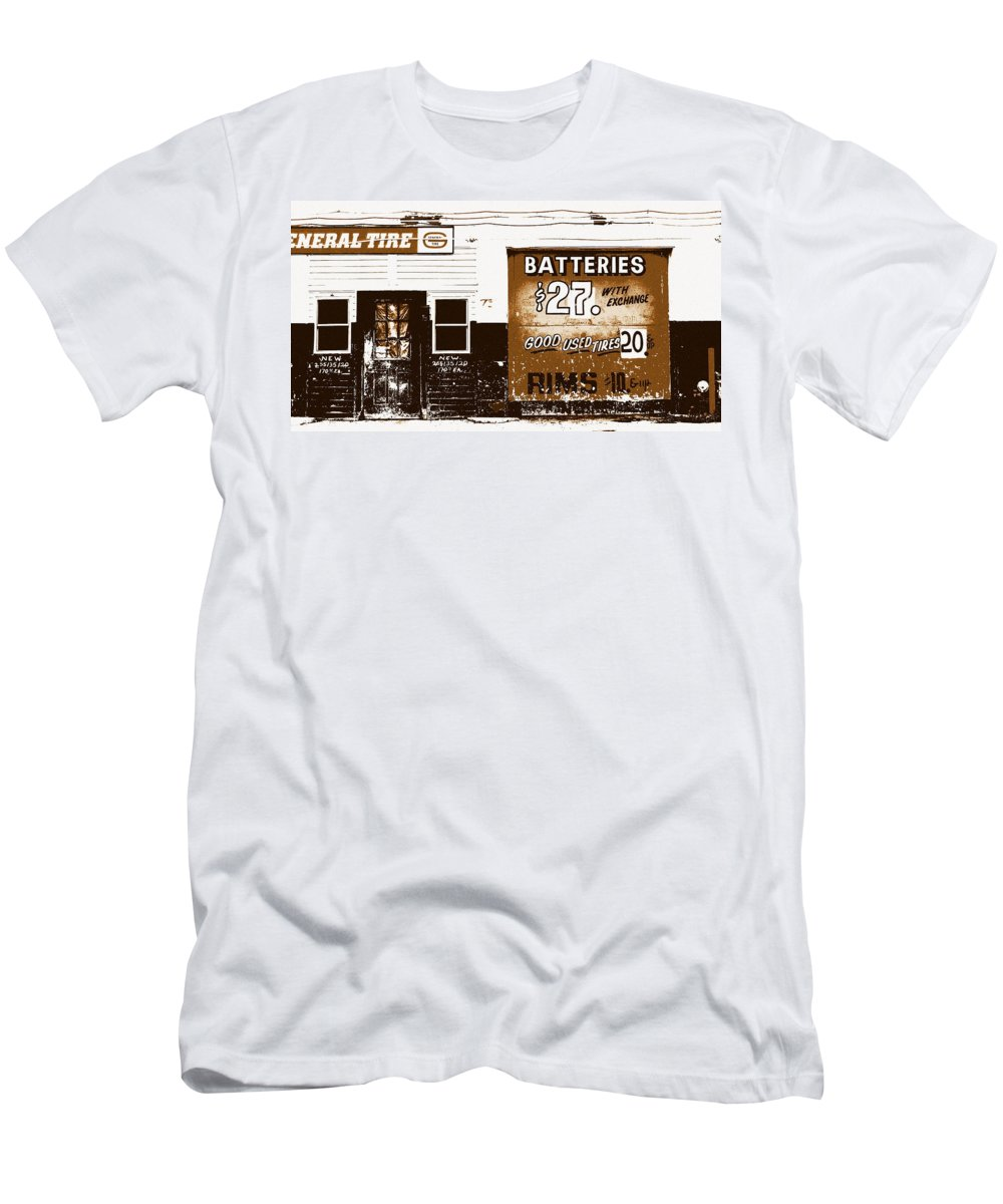 Still Life Men's T-Shirt (Athletic Fit) featuring the photograph Good Used Tires by Ed Smith