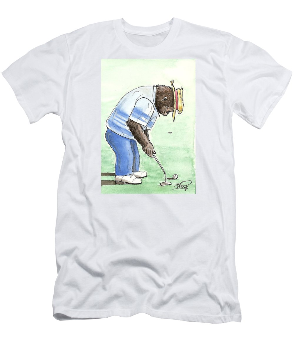 Golf Men's T-Shirt (Athletic Fit) featuring the painting Got You Now by George I Perez