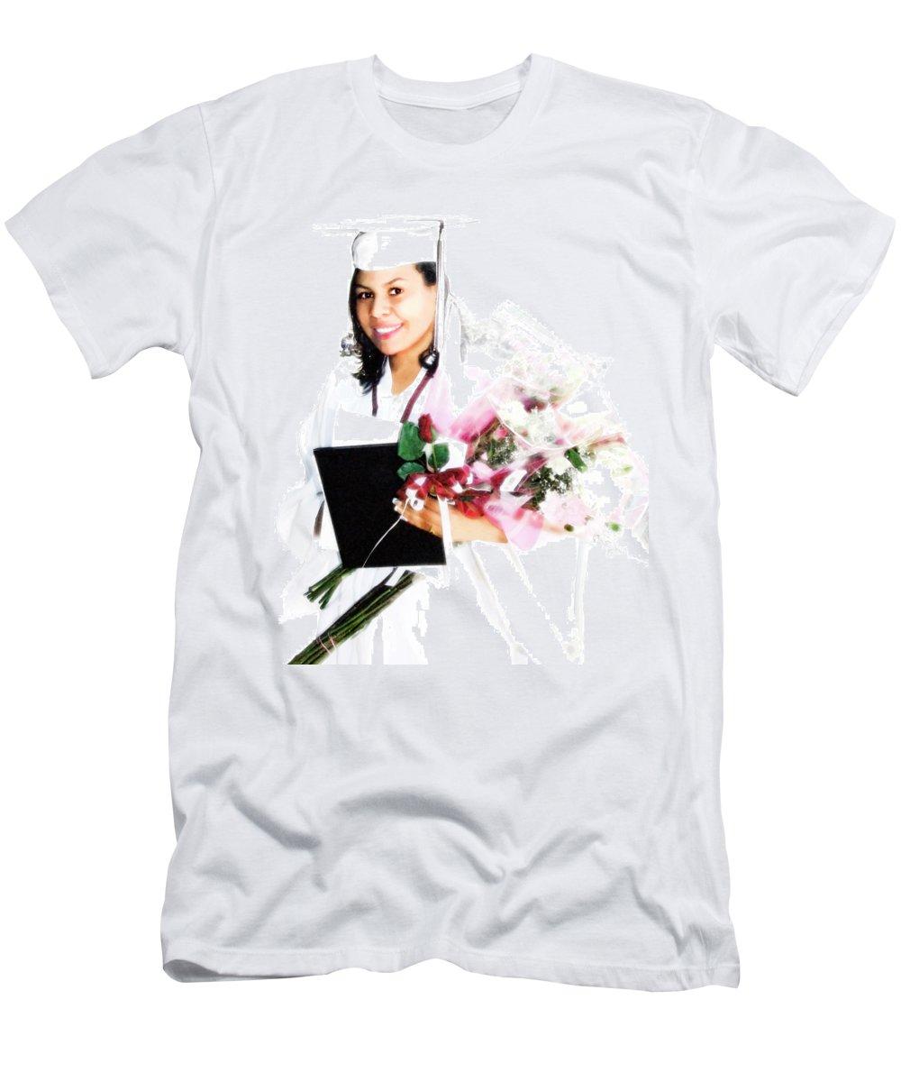 Achievement Men's T-Shirt (Athletic Fit) featuring the digital art Graduation Pride by Francesa Miller