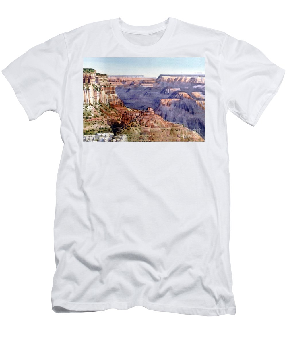 Grand Canyon Men's T-Shirt (Athletic Fit) featuring the painting Grand Canyon Morning by Donald Maier
