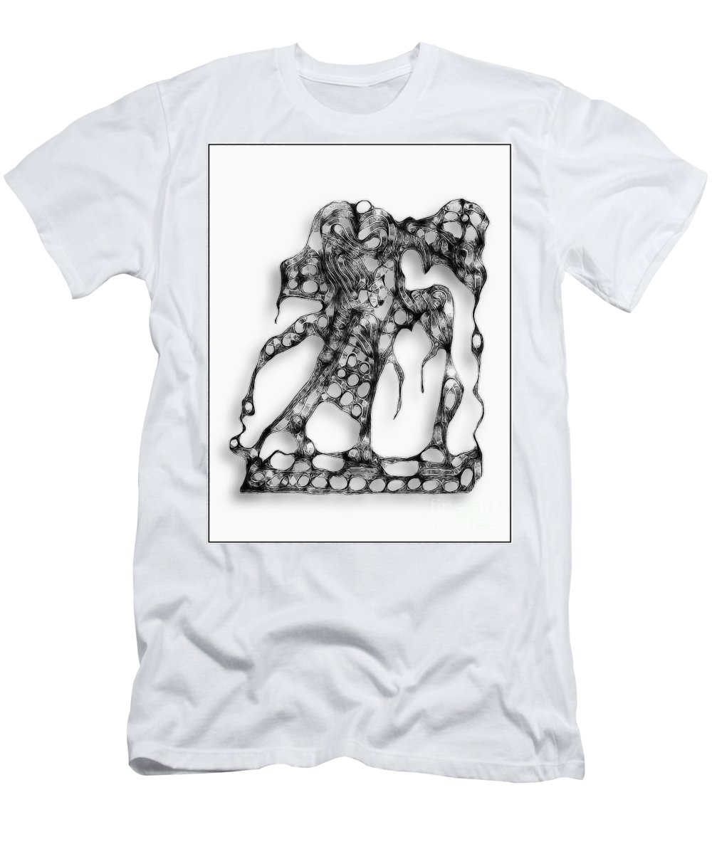 Abstraction Men's T-Shirt (Athletic Fit) featuring the digital art Graphics 1328 by Marek Lutek