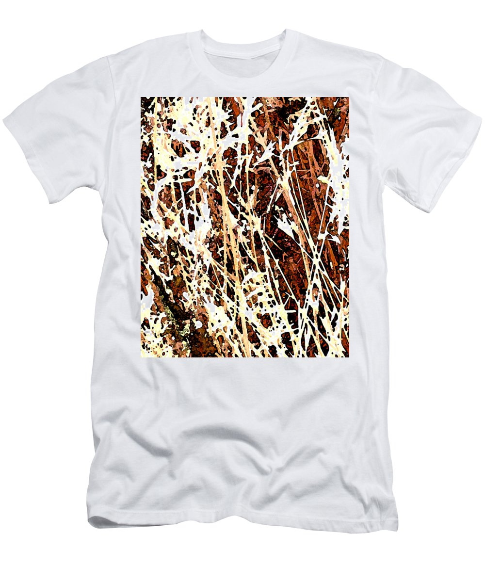Grass Men's T-Shirt (Athletic Fit) featuring the photograph Grass by Wayne Potrafka