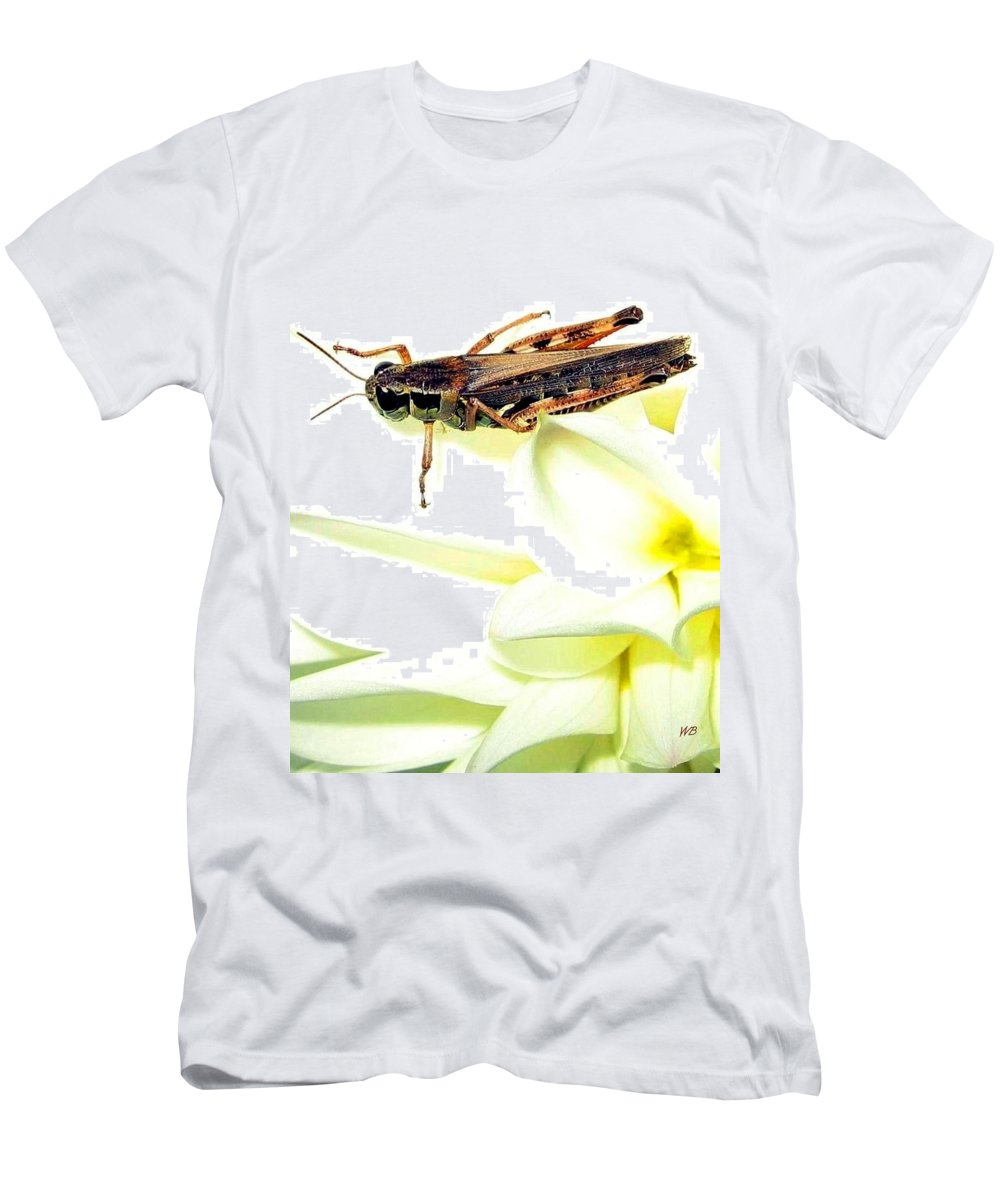 Grasshopper Men's T-Shirt (Athletic Fit) featuring the photograph Grasshopper by Will Borden