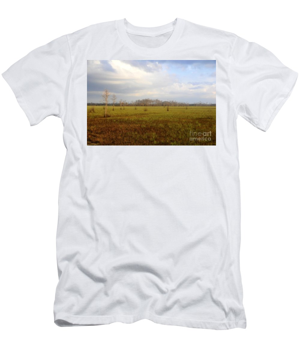 Grasslands Men's T-Shirt (Athletic Fit) featuring the photograph Grasslands by David Lee Thompson