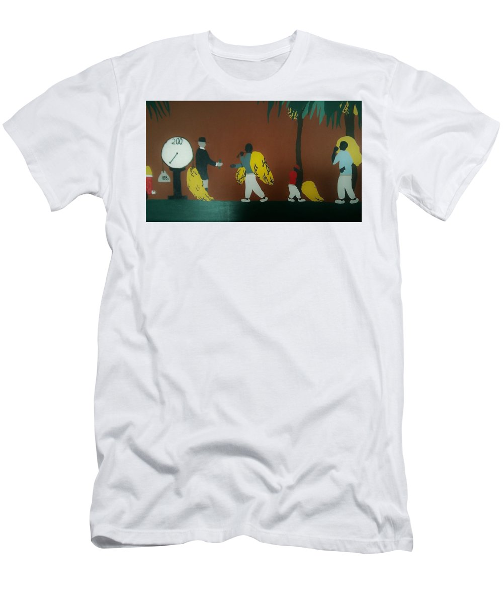 Banana Man Men's T-Shirt (Athletic Fit) featuring the painting Grave Yard by Demarco Kelly