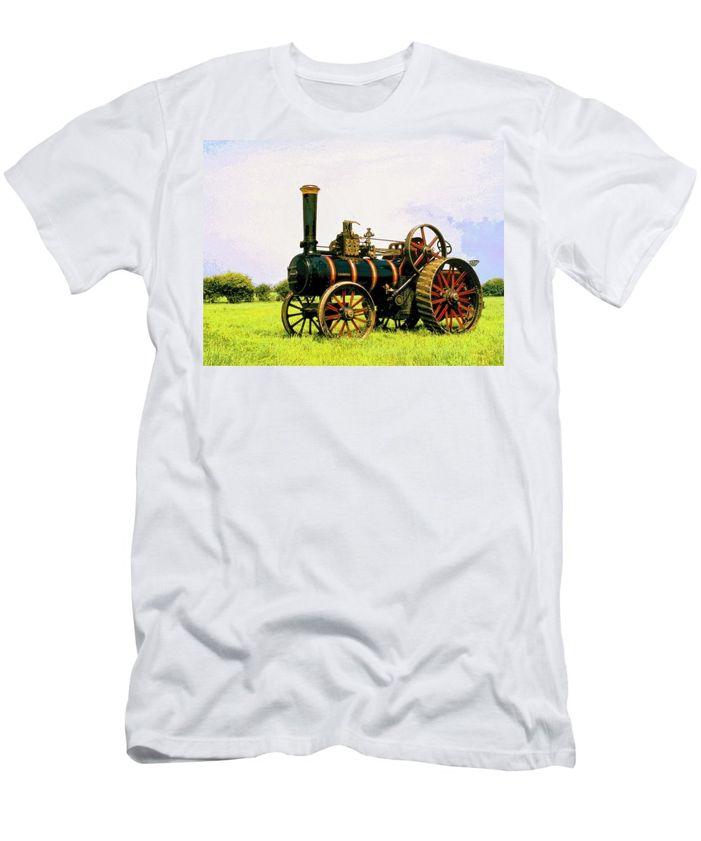 Grazing Men's T-Shirt (Athletic Fit) featuring the mixed media Grazing by Dominic Piperata