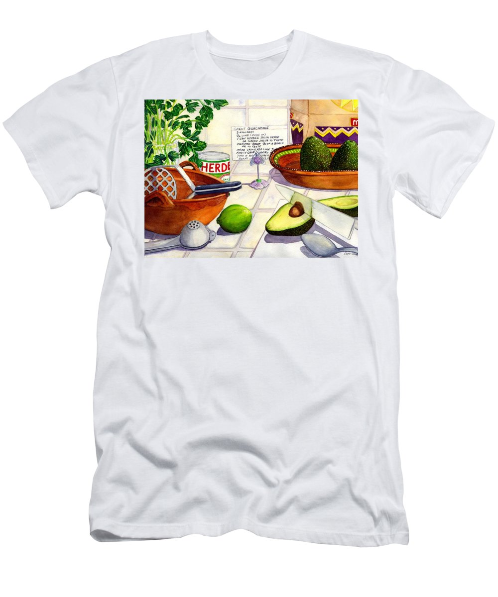 Guacamole Men's T-Shirt (Athletic Fit) featuring the painting Great Guac. by Catherine G McElroy