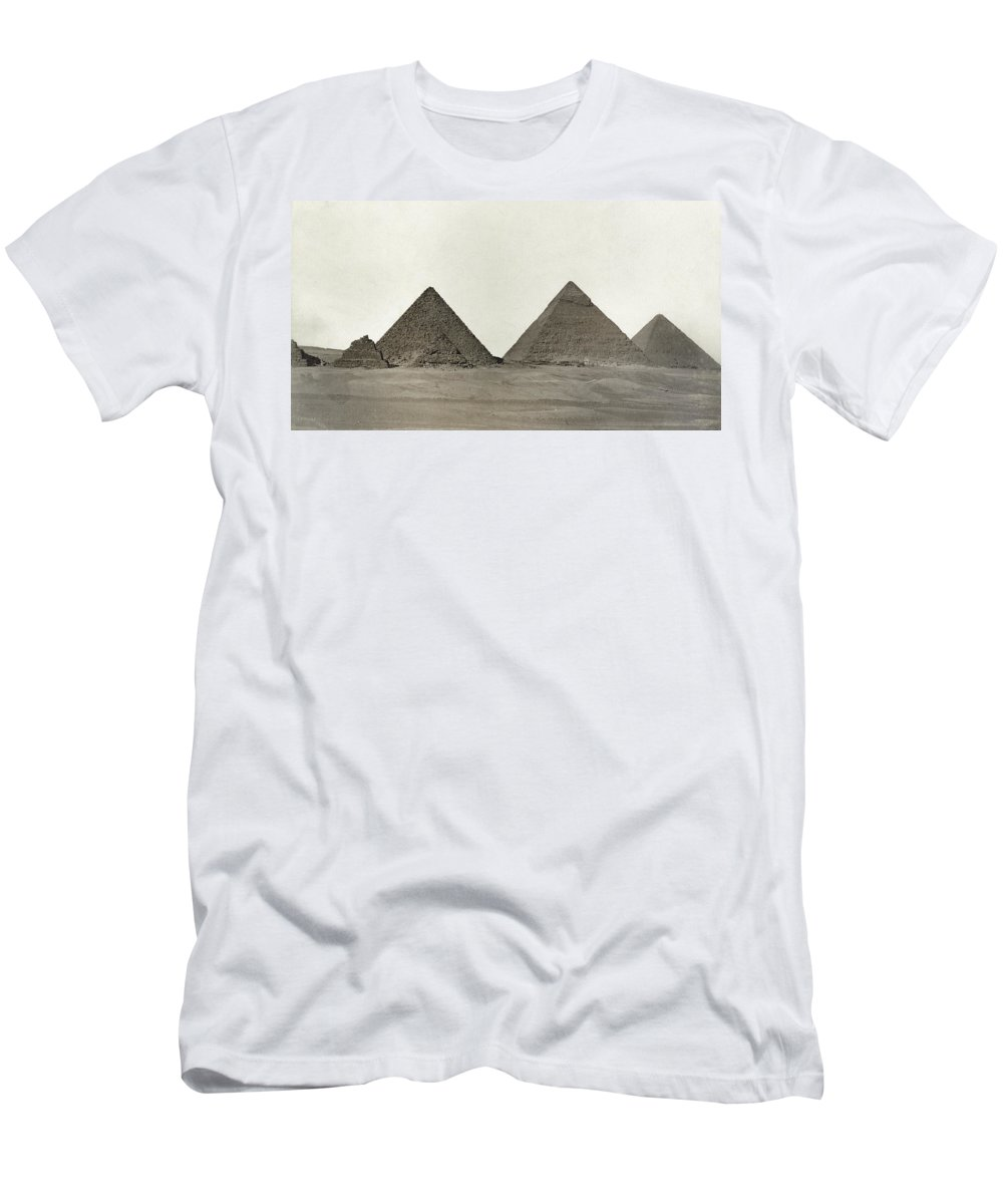 Egypt Men's T-Shirt (Athletic Fit) featuring the photograph Great Pyramids by Granger