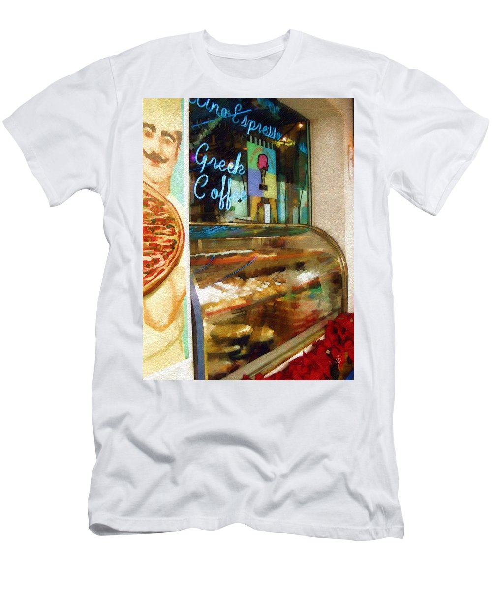 Greek Men's T-Shirt (Athletic Fit) featuring the photograph Greek Coffee by Sandy MacGowan