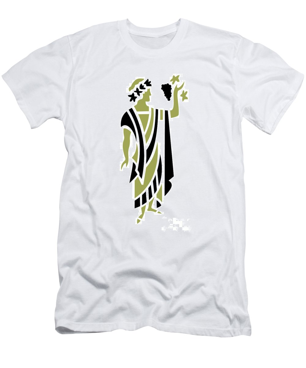Greek Men's T-Shirt (Athletic Fit) featuring the digital art Greek Man In Olive by Donna Mibus
