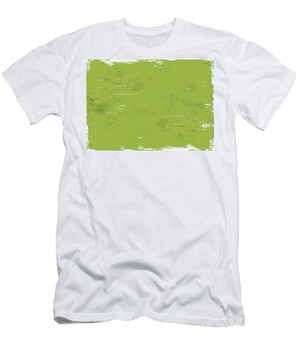 Abstract Men's T-Shirt (Athletic Fit) featuring the painting Green Punch by Tonya Doughty