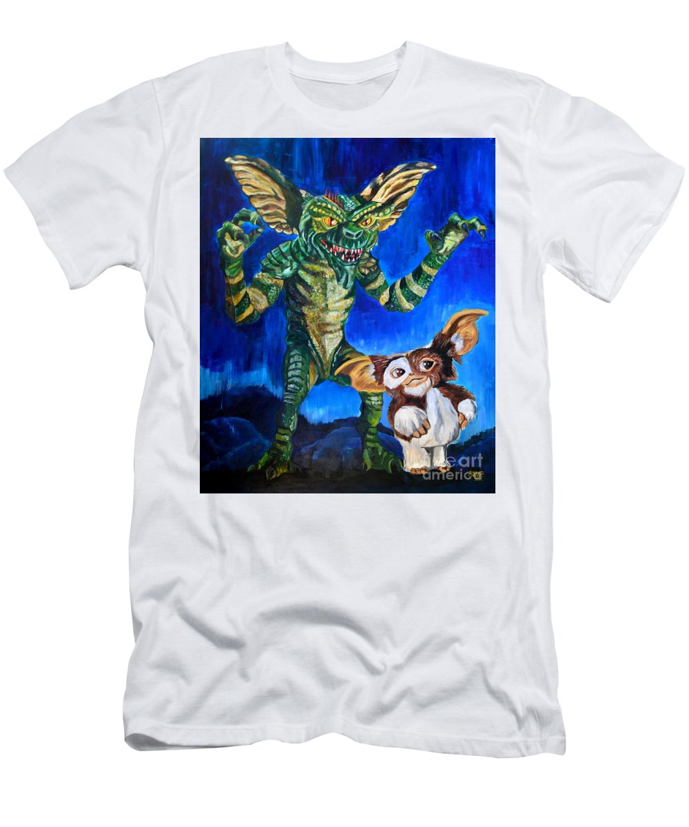Gremlins Men's T-Shirt (Athletic Fit) featuring the painting Gremlins by Jose Mendez