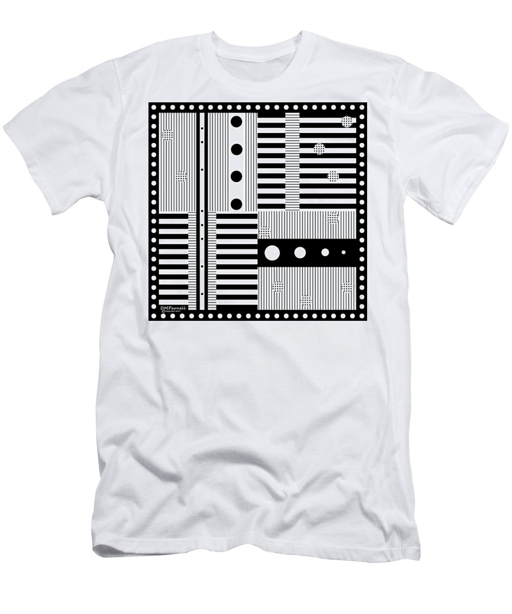 Abstract Men's T-Shirt (Athletic Fit) featuring the digital art Grid Formal Attire by Diane Parnell