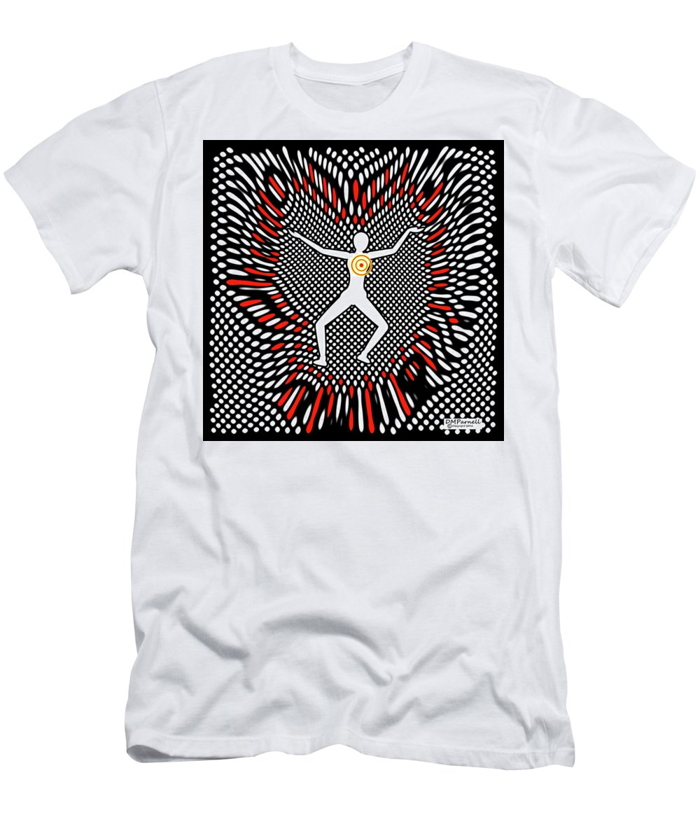 Grid Men's T-Shirt (Athletic Fit) featuring the digital art Grid Murder Scene by Diane Parnell