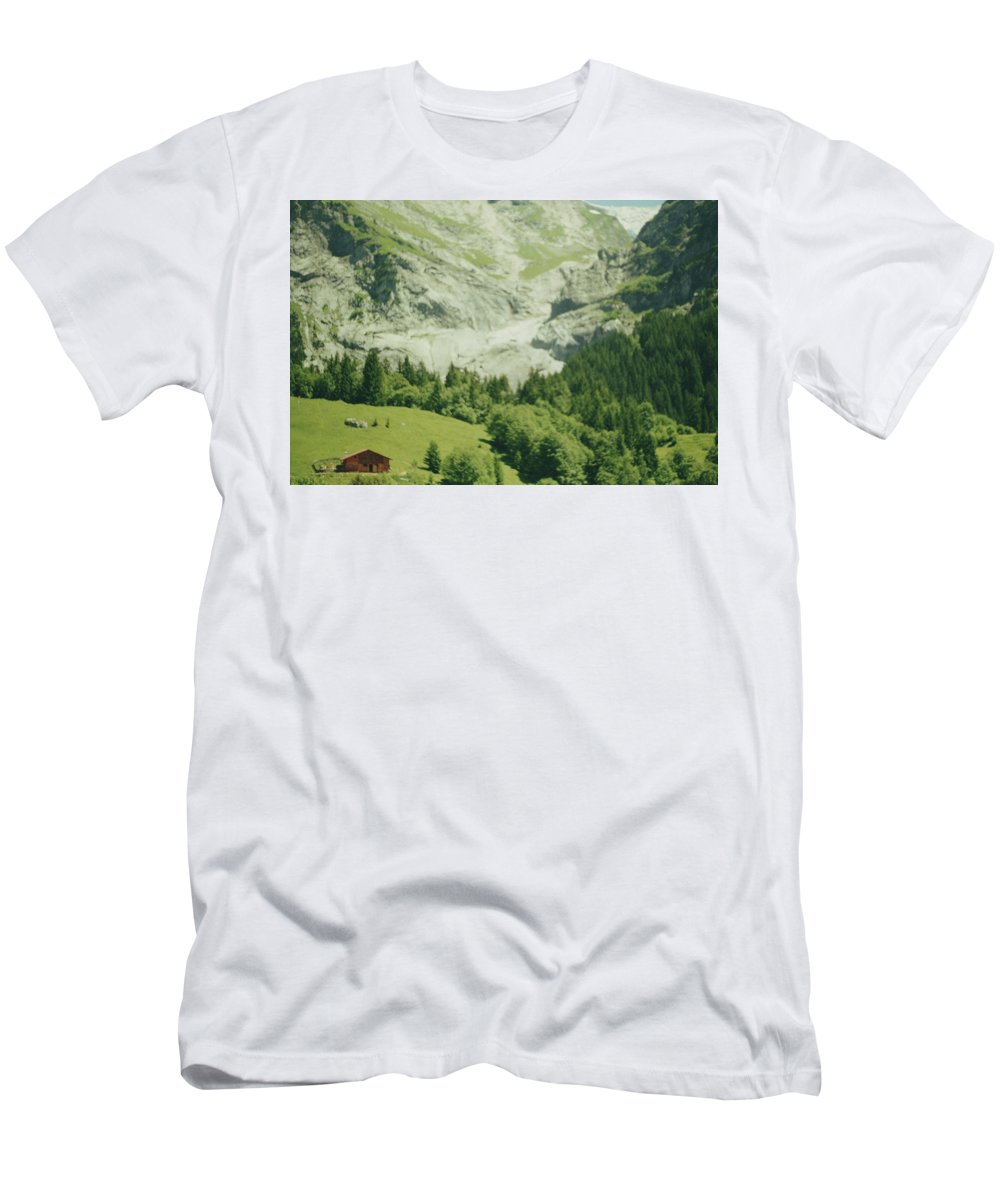Contemporary Men's T-Shirt (Athletic Fit) featuring the photograph Grindelwald Switzerland 7 by Joshua Allen