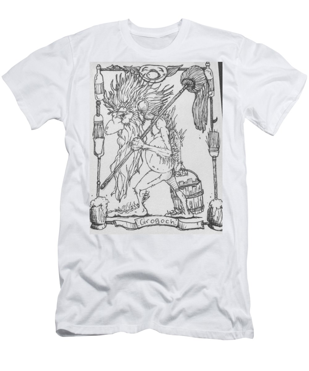 Fae T-Shirt featuring the drawing Grogoch by Jason Strong