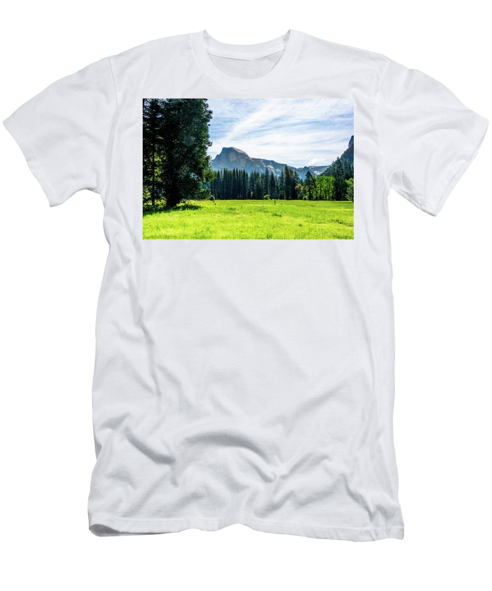 California Men's T-Shirt (Athletic Fit) featuring the photograph Half Dome by Randy Herring